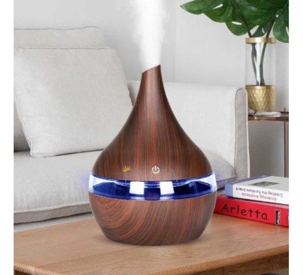 Аромадиффузор увлажнитель воздуха c подсветкой 7 цветов,светильник (H224)