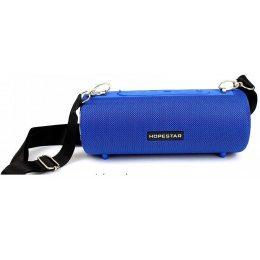 Портативная Bluetooth колонка Hopestar H39 с влагозащитой Синяя