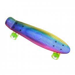 Пенниборд-скейт 26(106), двухсторонний окрас, колёса PU СВЕТЯЩИЕСЯ