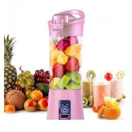 Блендер Smart Juice Cup Fruits USB Розовый 2 ножа