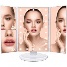 Зеркало тройное для макияжа с 22 LED подсветкой Magic MakeUp Mirror