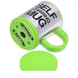 Кружка мешалка Self Stirring mug Чашка Зеленая