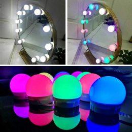 Голливудский стиль RGB Изменение цвета 10 ламп светодиодные зеркальные лампы(225)
