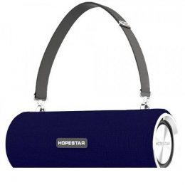 Портативная Bluetooth колонка Hopestar H39 с влагозащитой Темно-синяя