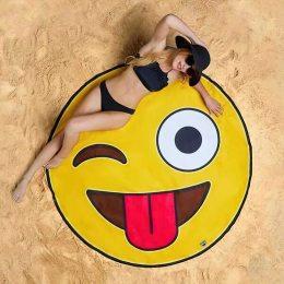 3D-коврик безворсовый для пляжа и дома (Смайлик)
