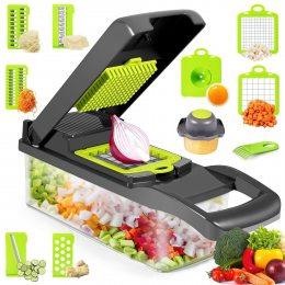 Многофункциональная овощерезка Veggie Slicer 14в1 Ручной комбайн для нарезки и шинковки продуктов (626)