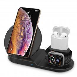 Беспроводное зарядное устройство для телефона и часов 3in1 Fast Charge (626)