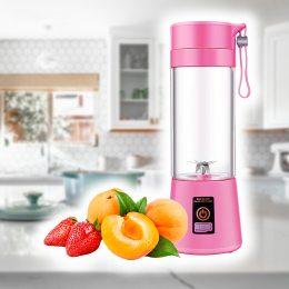 Портативный ручной блендер Smart Juice Cup с аккумулятором, розовый