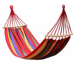 Мексиканский подвесной гамак с планкой | 200x80 см Разноцветный