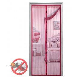 Антимоскитная штора на дверь на магнитах Magic Mesh Бордовая