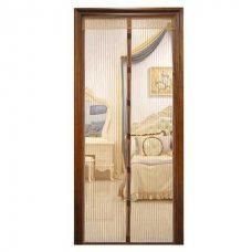 Антимоскитная штора на дверь на магнитах Magic Mesh Коричневая