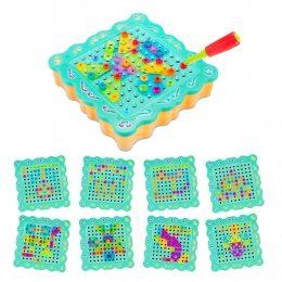 """Детский развивающий конструктор игрушка Tu Le Hui """"Diy Light Puzzle"""" на шурупах 200 деталей"""