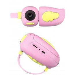 Детский фотоаппарат - видеокамера Kids Camera птичка Розовый