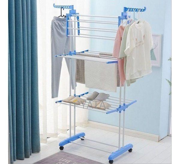 Сушилка для белья Garment rack with wheels № K12-120 Голубой