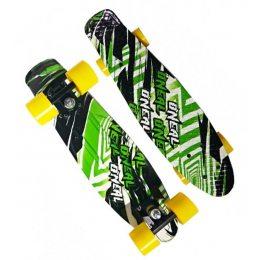 Скейт Пенни борд Best Board 24, колёса PU Светящиеся ONEAL (односторонний окрас)