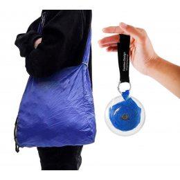 Складная компактная сумка-шоппер Shopping bag to roll up Синяя