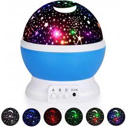 Ночник в форме шара NEW Projection Lamp Star Master Голубой