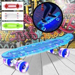 """Скейт Penny Board """"Light Side"""". Дека и колеса светятся! (Пенни борд)"""
