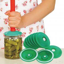 Вакуумные крышки для консервации и долгого хранения продуктов  6 шт.|(237)