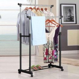 Стойка вешалка для одежды двойная Double Pole Дабл пол