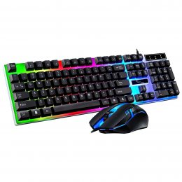 Клавиатура проводная и мишка JEDEL COMBO GK100 + RGB с подсветкой (206)