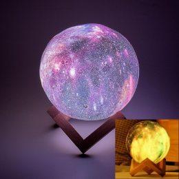 Увлажнитель Воздуха и Светильник в виде Космоса 2 в 1 3D Moon Light