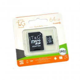 Карта памяти micro TG 64GB class 10 (с адаптером)