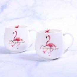 Керамическая чашка с фламинго, эстетика  300мл