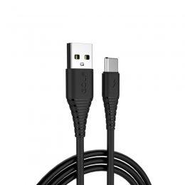 Кабель USB GOLF GC-64 Type-C 1м Черный