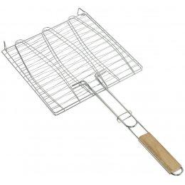 Решетка для рыбы гриль, для мангала, барбекю 36 х 40 см  (222)