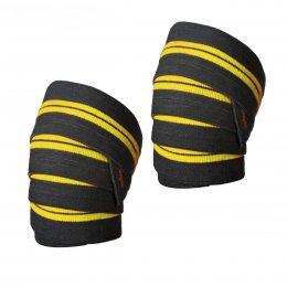 Бинт на колено силовой L.P., желто-черный  (S\H#5)(LP-0770W)