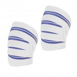 Бинт на колено силовой L.P., бело-синий (S\H#5)(LP-0770W)
