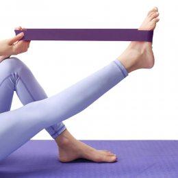 Ленточный эспандер (эластичная лента) для фитнеса и йоги 104см PS FI-2465  Фиолетовый (S\H#5)