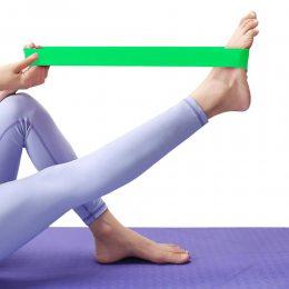 Ленточный эспандер (эластичная лента)  для фитнеса и йоги 104см (1115) Зеленый (S\H#5)