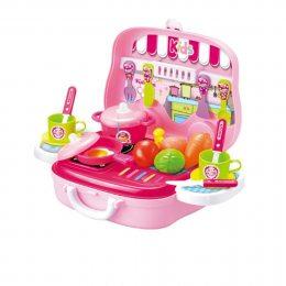 Детский игровой набор чемоданчик Кухня Little Chef (219)