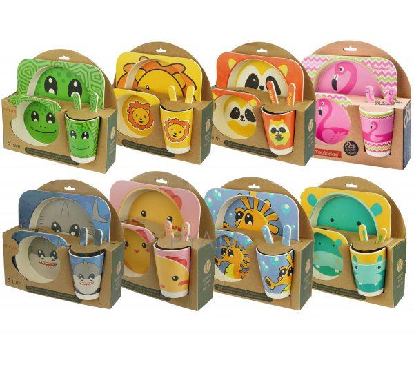 Детский набор бамбуковой посуды Eco Bamboo 5 предметов(237)
