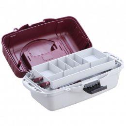 Ящик кейс рыболовный 1 ярус для снастей со съемными перегородками  AQT-2701