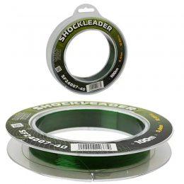 Высококачественнаянейлоноваялеска 100м  Shockeleader 0.14мм (5шт. уп)