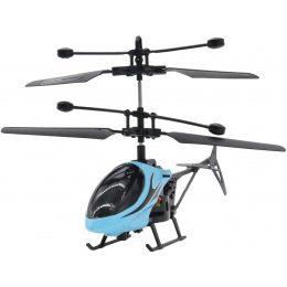 Вертолет на радиоуправлении Induction Aircraft с сенсорным управлением рукой Голубой