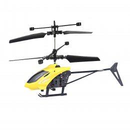 Вертолет на радиоуправлении Induction Aircraft с сенсорным управлением рукой Желтый