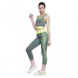 Костюм для фитнеса и тренировок cooper fit yoga лосины и майка (519)