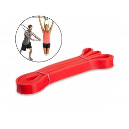 Резинка для подтягиваний, турника, фитнеса, эспандер резиновый спортивный (power bands). U-Powex. Фитнес петли. Жгут 13 мм красная. (237)