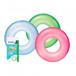 Детский Надувной Круг Bestway BW 36024 неоновый 76 см для плавания розовый/зеленый/синий (М+)