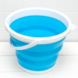 Складное ведро collapsible bucket 10л. хозяйственное, компактное, походное, Туристическое ведро, Силиконовое ведро (212)