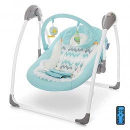 Кресло-качалка для детей качели El Camino ME 1047 AIRY Mint серое с большим набором функций (M+)