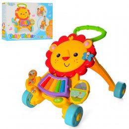 Ходунки на колесах детские Bambi Baby Walker (869-52) для малыша от 6 месяцев, лев (М +)