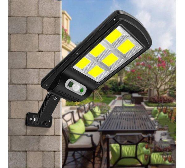 Уличный фонарь на солнечной батарее Solar Light BL BK120-6COB / Фонарь на столб с пультом ДУ (225)