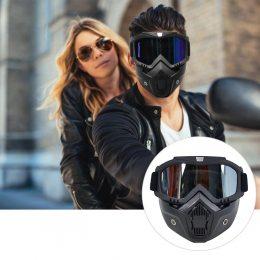 Защитные очки со съёмной маской, маска мотоциклетная, для лыж, велосипедов (225)