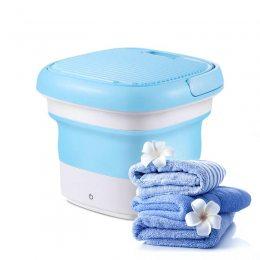 Складная стиральная машина Maxtop washing machine 7399, силиконовая, голубая с белым