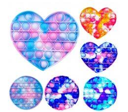 Игрушка Антистресс Поп ит Сердце, квадрат, круг, восьмиугольник Push Bubble Fidget Pop it (475)